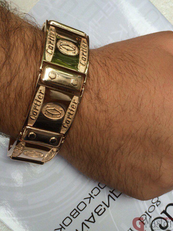 браслет на руку мужские изи золота